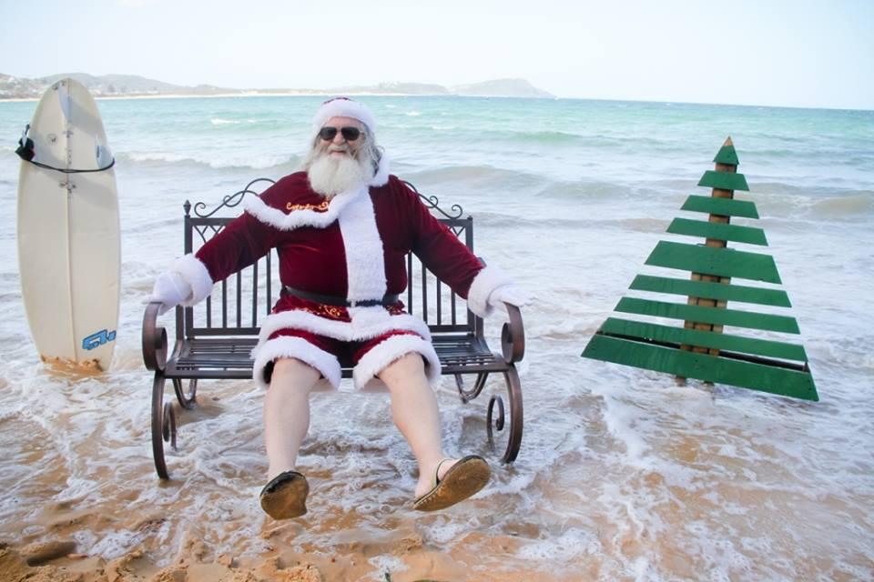One Agency Xmas Party With Santa On The Beach!